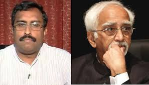 Govt apologies with VP Ansari for mis conduct of Ram Madav. The right step should be sack Ram Madhav..